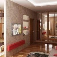 зонирование спальни однокомнатной квартиры