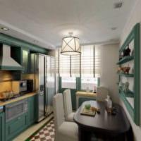 объёмный дизайн малогабаритной кухни