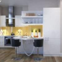 дизайн малогабаритной кухни с гостиной