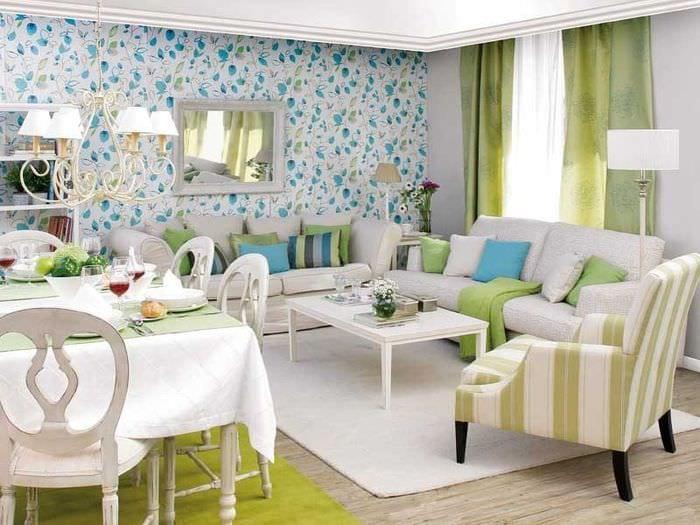 гостиная столовая в квартире