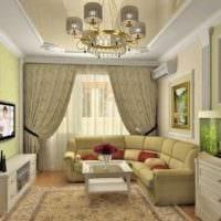 зеленый цвет в дизайне однокомнатной квартиры
