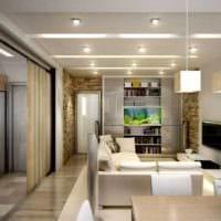 идеальный дизайн однокомнатной квартиры