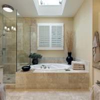 гармоничный интерьер ванной