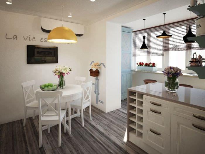кухня на балконе дизайн