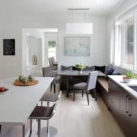 кухня столовая фото планировки