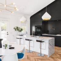 кухня столовая планировка