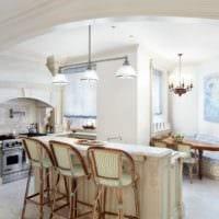 кухня столовая современный интерьер