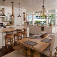 кухня столовая стильный интерьер
