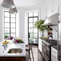 кухня с эркером фото дизайн