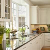 кухня с эркером интерьер фото