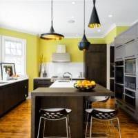 кухня с эркером современное оформление