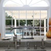 кухня с эркером современный дизайн