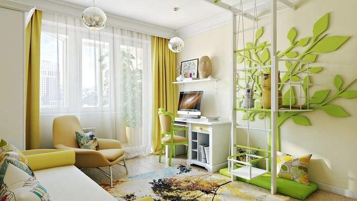 яркое оформление квартиры