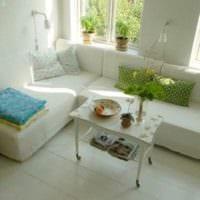 мебель в дизайне маленького зала