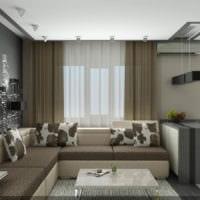 функциональный дизайн однокомнатной квартиры