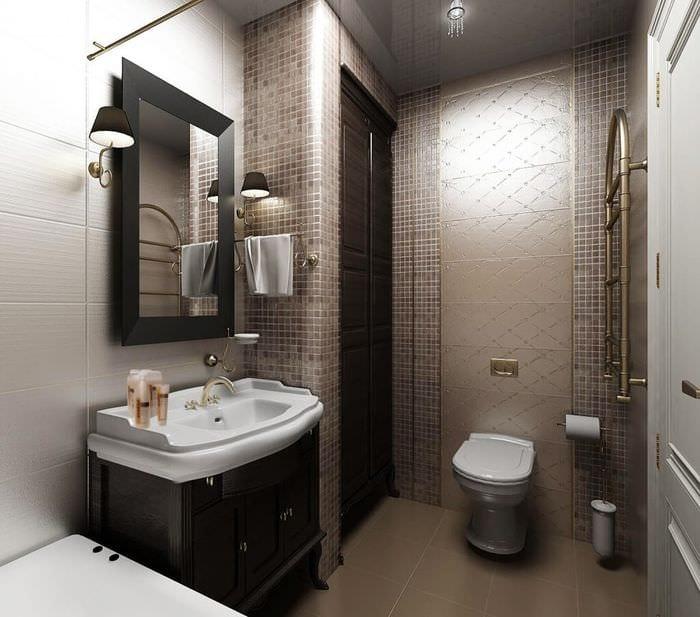 стильная совмещенная ванная