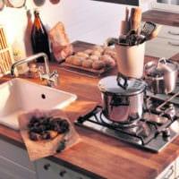 островной дизайн малогабаритной кухни