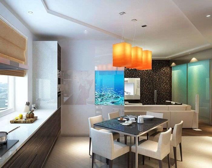 особенности дизайна кухни гостиной