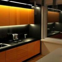 кухня 6 кв метров освещение