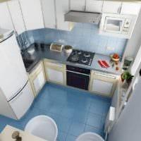 пол из плитки на кухне 6 кв метров