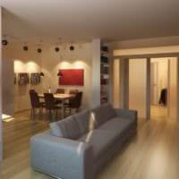стильный дизайн маленькой гостиной