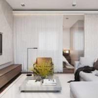 спальня и гостиная однокомнатной квартиры