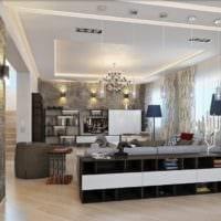стиль зон столовой и гостиной