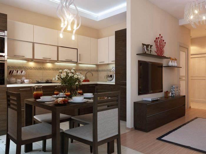 кухня в рднокомнатной квартире