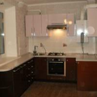 темный ламинат кухня 6 кв метров
