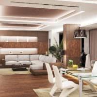 теплый свет в интерьере гостиной