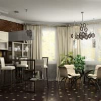 достоинства кухни совмещенной с гостиной