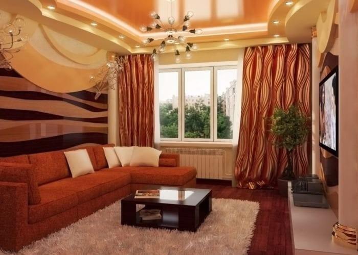 уютный дизайн гостиной