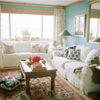 уютное оформление маленькой гостиной