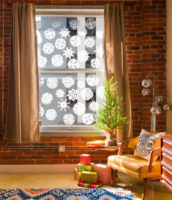 снежинки на окна к новому году