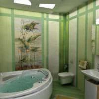 расслабляющий дизайн ванной