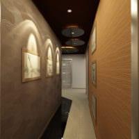 вариант дизайна длинного коридора