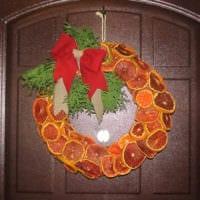 новогодний венок из цитрусовых