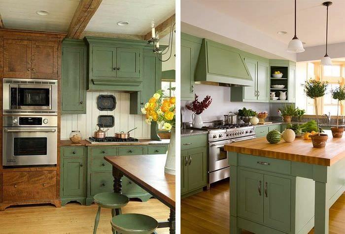 кухня прованс оливковый цвет