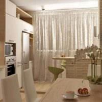 балкон и кухня дизайн