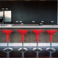 барная стойка в стильной кухне