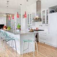 светлый дизайн кухни