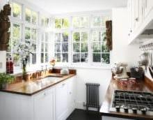 белая кухня 5 кв м