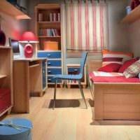 комната для подростка с цветной мебелью