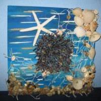 декор из ракушек морской стиль