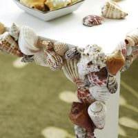 декор из ракушек на стол