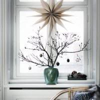 декор окна венок