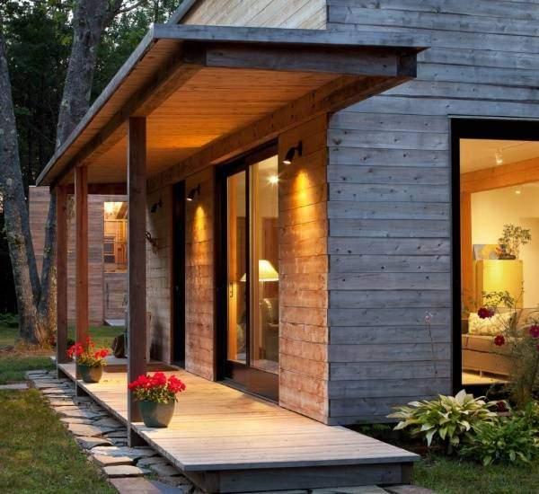 деревянное крыльцо из досок