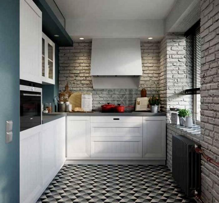 кухня 6 кв м лофт