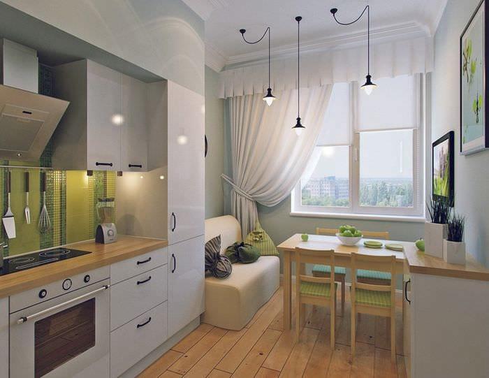 Дизайн кухни с диваном: 75 вариантов функционального интерье.