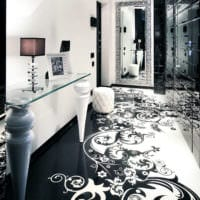 дизайн черно белого коридора